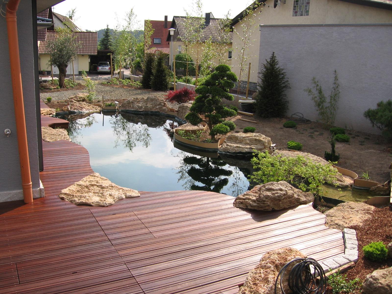 terrassen stege br cken pergolen z une von teichbau. Black Bedroom Furniture Sets. Home Design Ideas