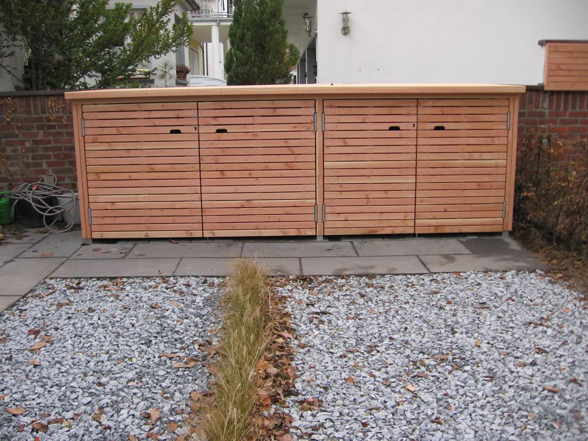 Mülltonenboxen, Fahrradschuppen, Stauraum von Teichbau Moseler . Ihr ...