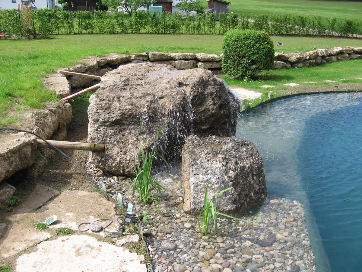 bachlauf und wasserfall von teichbau moseler . ihr spezialist für ... - Naturlicher Bachlauf Garten