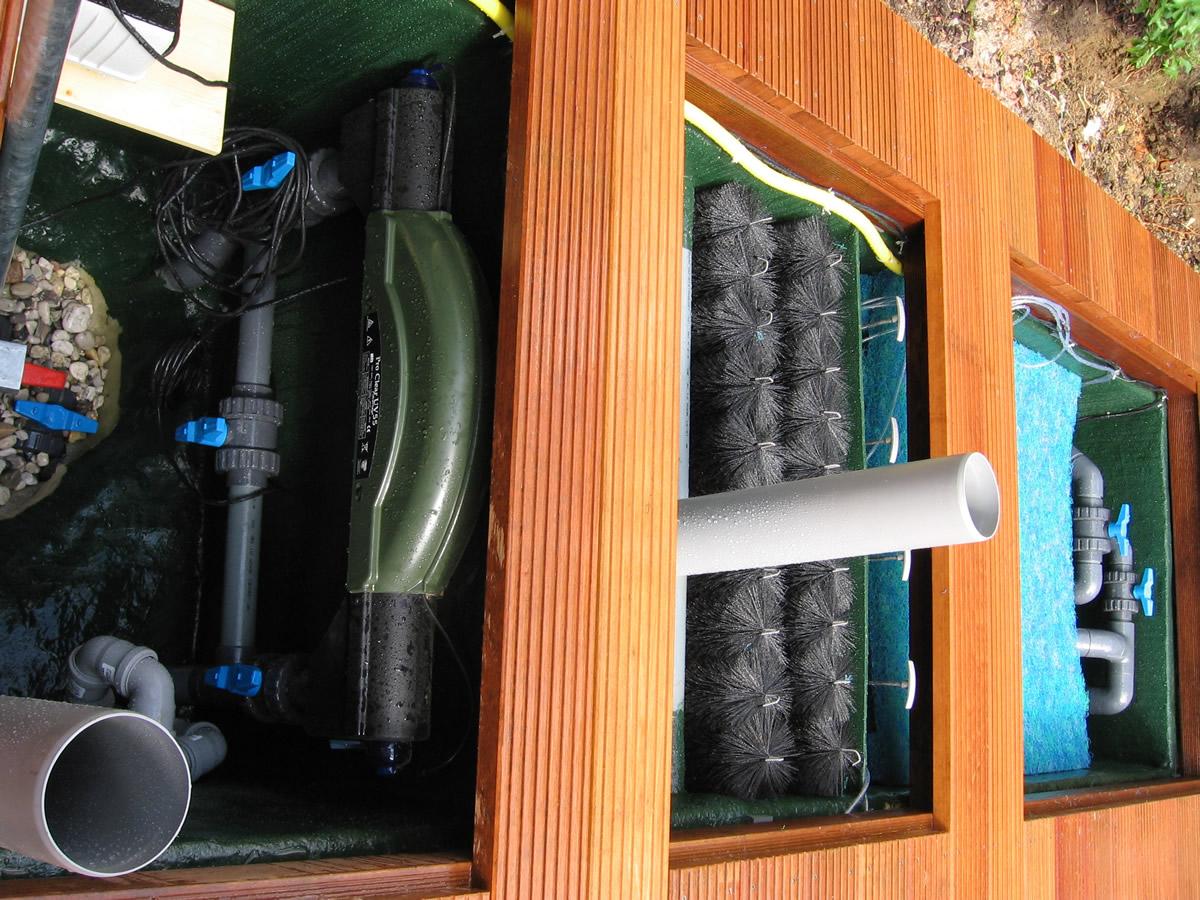 teich und pool filterung filteranlagen pumpen skimmer beleuchtung von teichbau moseler. Black Bedroom Furniture Sets. Home Design Ideas