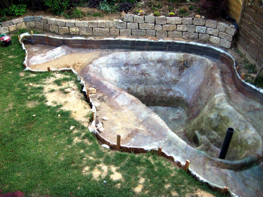 gfk selber machen teich kosten pool selber bauen mini pool pool pool styropor pool selber gfk. Black Bedroom Furniture Sets. Home Design Ideas