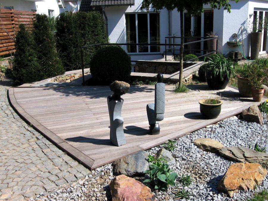 terrasse steg br cke und unterkonstruktion aus holz bambus von teichbau moseler ihr. Black Bedroom Furniture Sets. Home Design Ideas